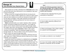 Preview 1 Science Worksheets Electricity Lessons Science