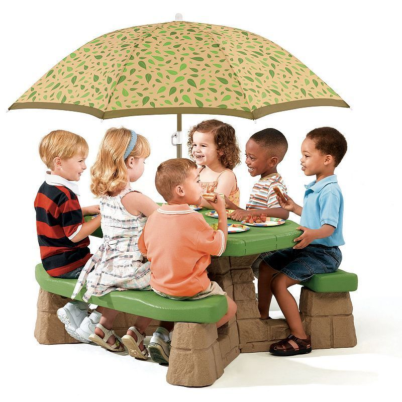 Step2 Naturally Playful Picnic Table With Umbrella Kids Picnic