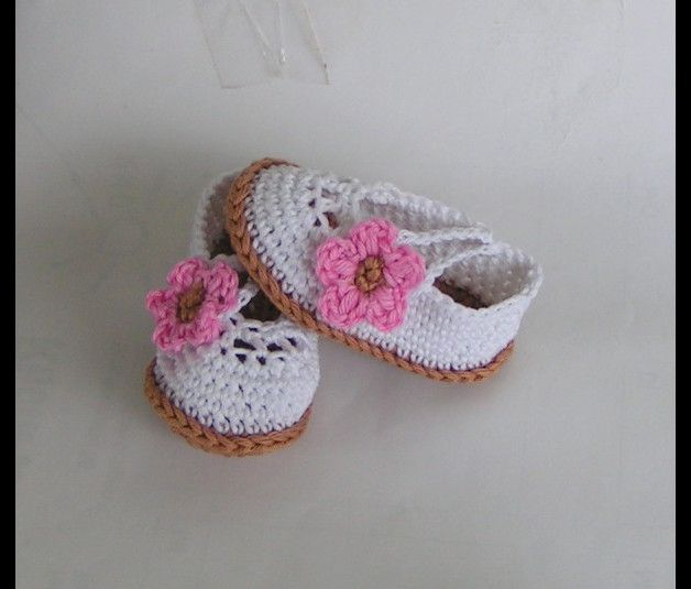 Häkelanleitung für Babyschuhe Ballerinas made by cosy-socks via DaWanda.com