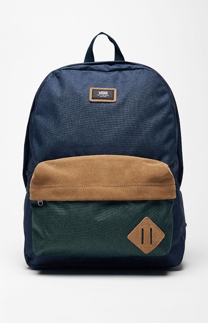 VANS Vans Old Skool II Blue   Green Backpack.  vans  bags  polyester   backpacks   cd52f7ae5