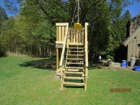 How to make a backyard zipline - YouTube | Tree house kids ...