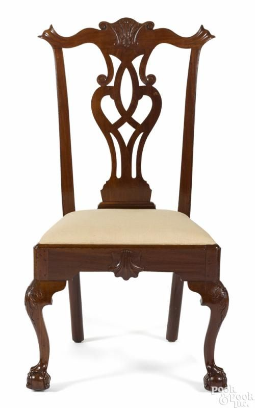 Philadelphia Chippendale mahogany dining chair, ca. 1770 - Price Estimate:  $4000 - $8000 - Philadelphia Chippendale Mahogany Dining Chair, Ca. 1770 - Price