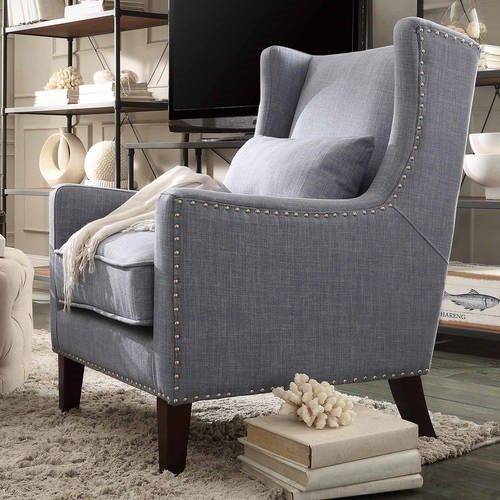 Weston Home St Alden Living Room Linen Accent Chair With