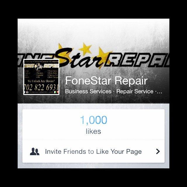 H E L L O 1⃣0⃣0⃣0⃣ Facebook Landmark  #FoneStarRepair #facebook #likes (at FoneStar Repair)