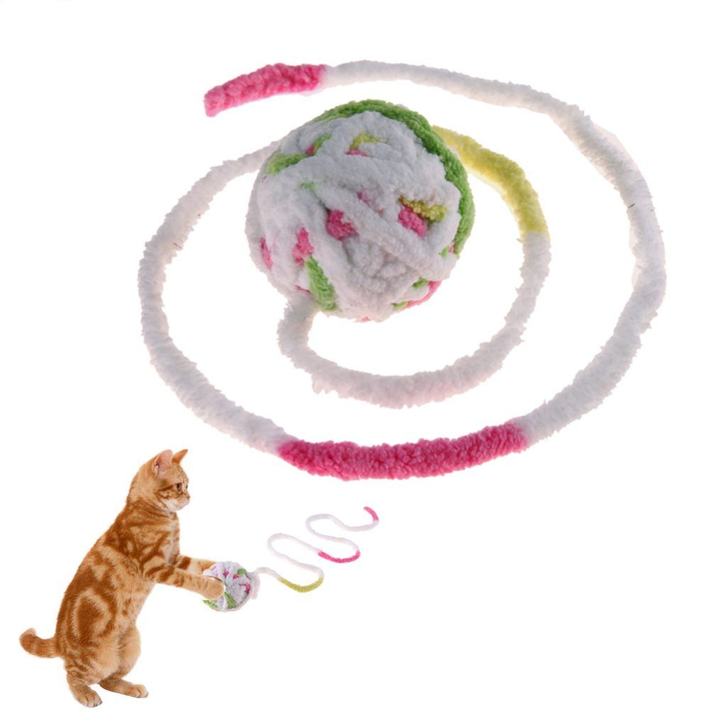 Colorful Squeaky Wool Ball For Pets In 2020 Wool Balls Cat Ball Interactive Cat Toys
