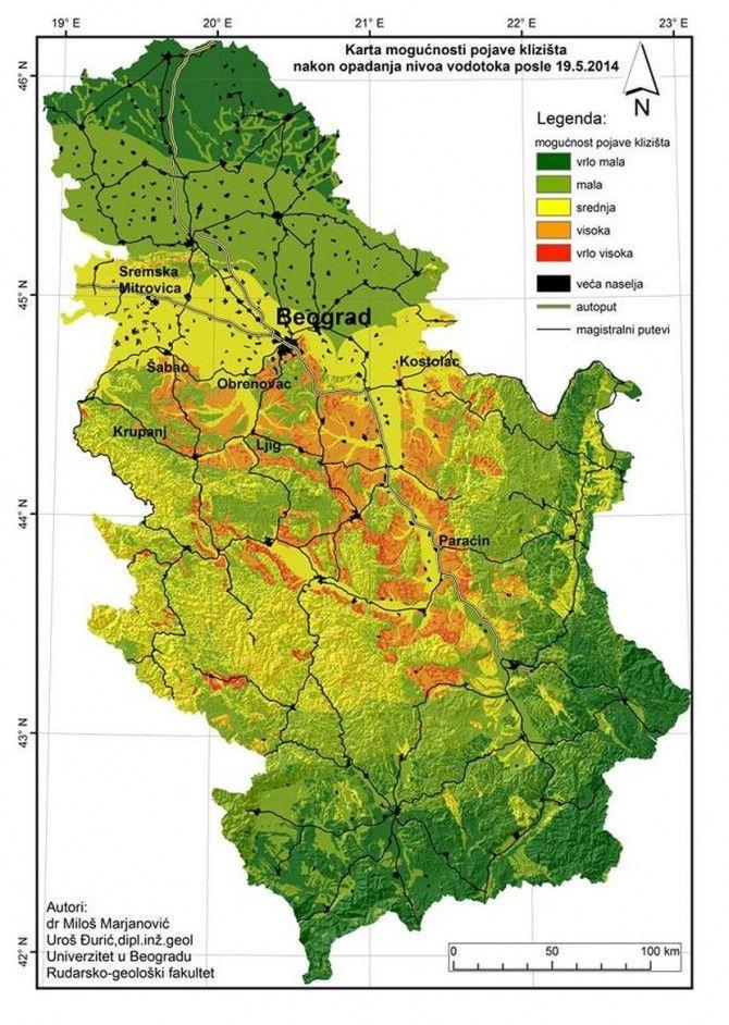 detaljna geografska karta srbije Opasne zone u Srbiji | Informacije | Pinterest detaljna geografska karta srbije