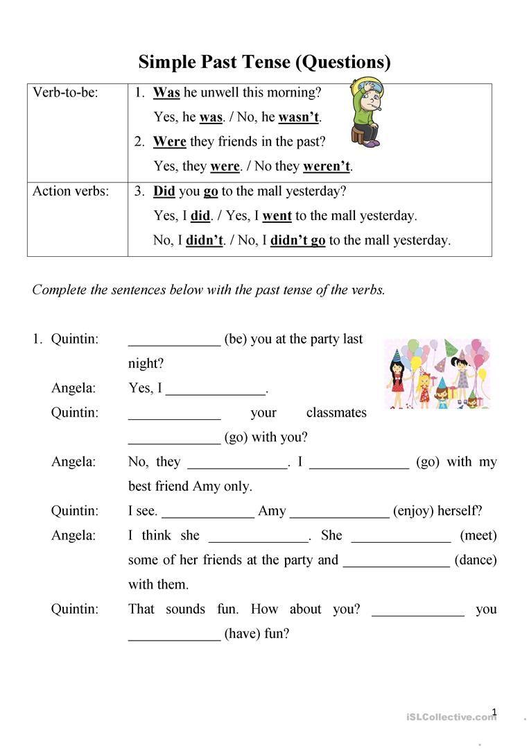Simple Past Tense Questions Worksheet Free Esl Printable Worksheets Made By Teachers Simple Past Tense Past Tense This Or That Questions [ 1079 x 763 Pixel ]