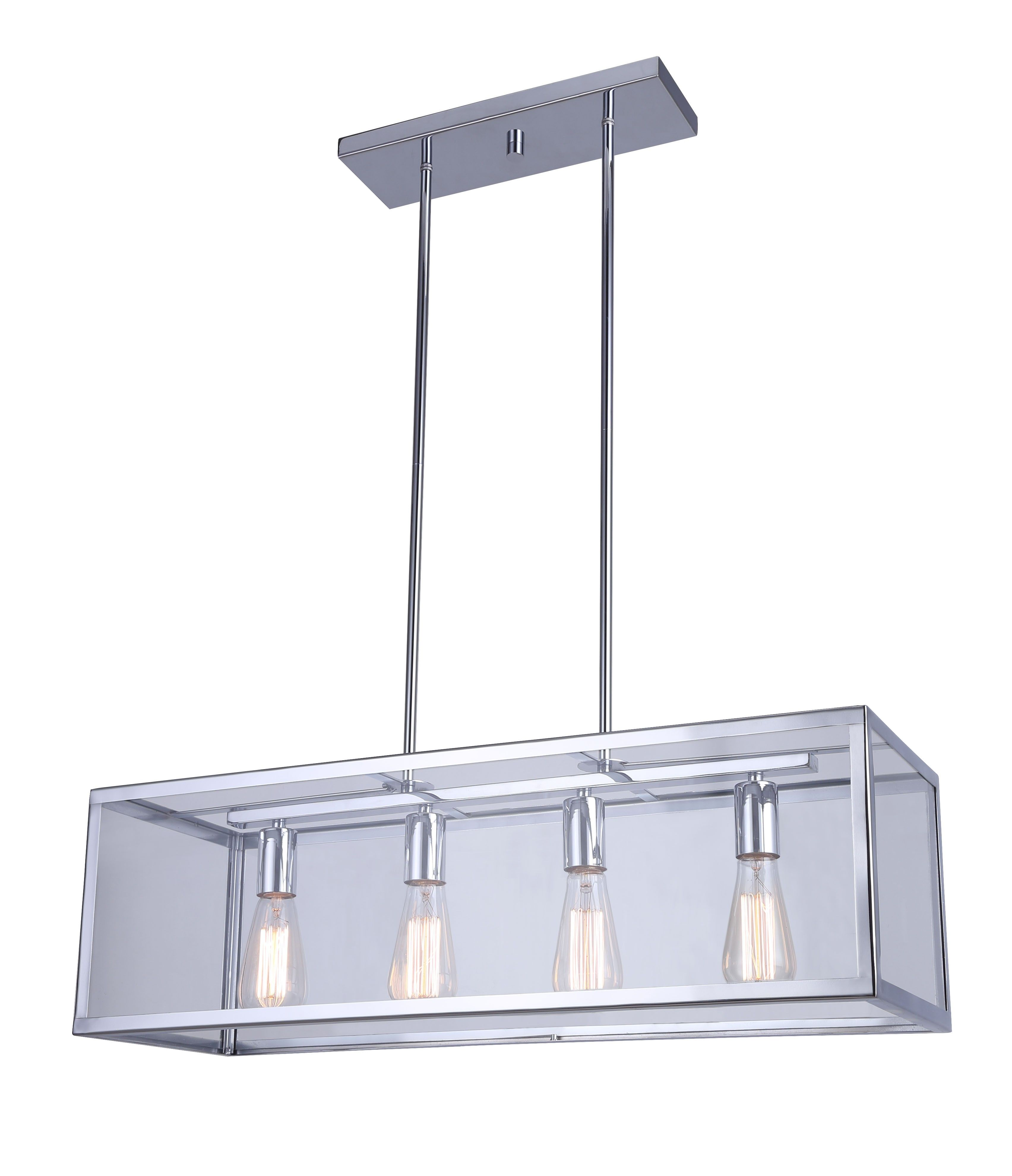 Canarm Ich530a04ch30 Langley 4 Light Rod Chandelier Chrome Discontinued No Longer Available Exterior Light Fixtures Industrial Light Fixtures Chandelier Ceiling Lights
