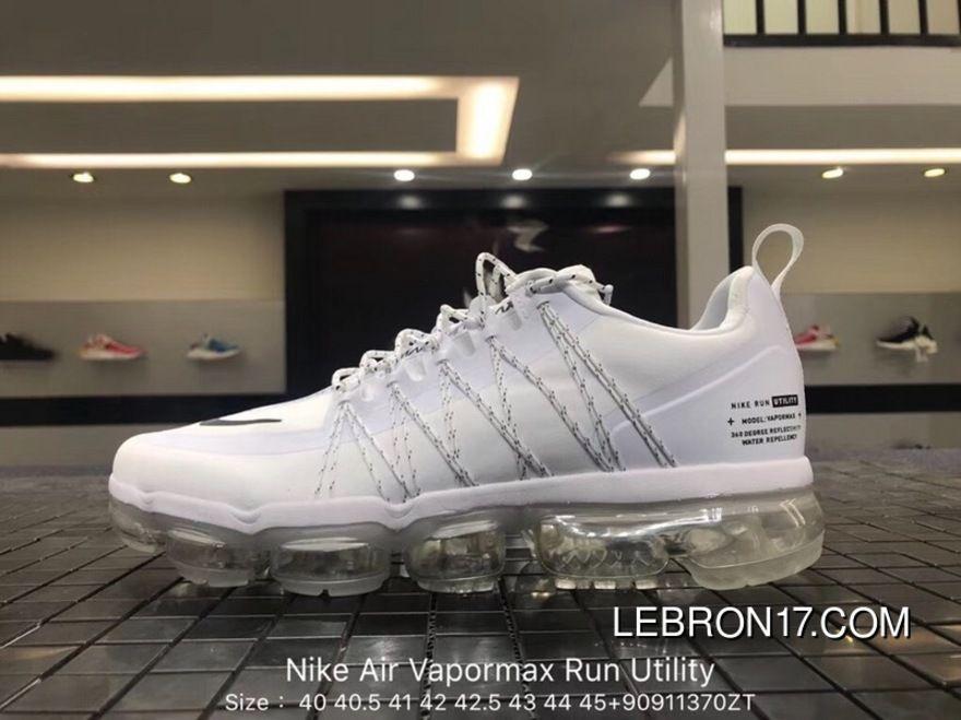 Nike Air Vapormax Run Utility 2018 849557-113 White Original Mens Running  Shoes Latest 33cab3edc