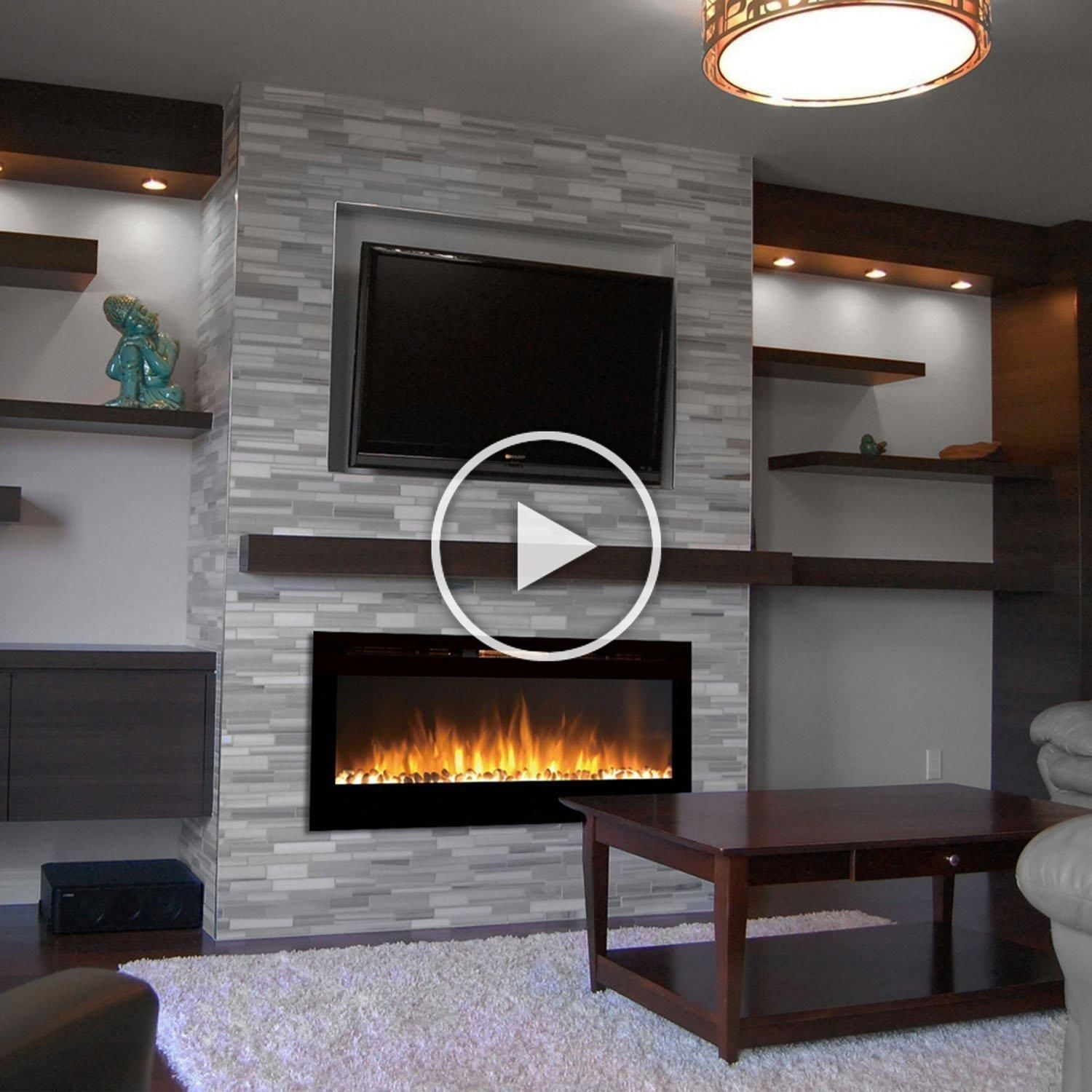Touchstone The Sideline™ 50- Recessed Electric Fireplace