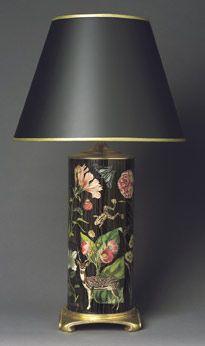 Lamp base decoupaged