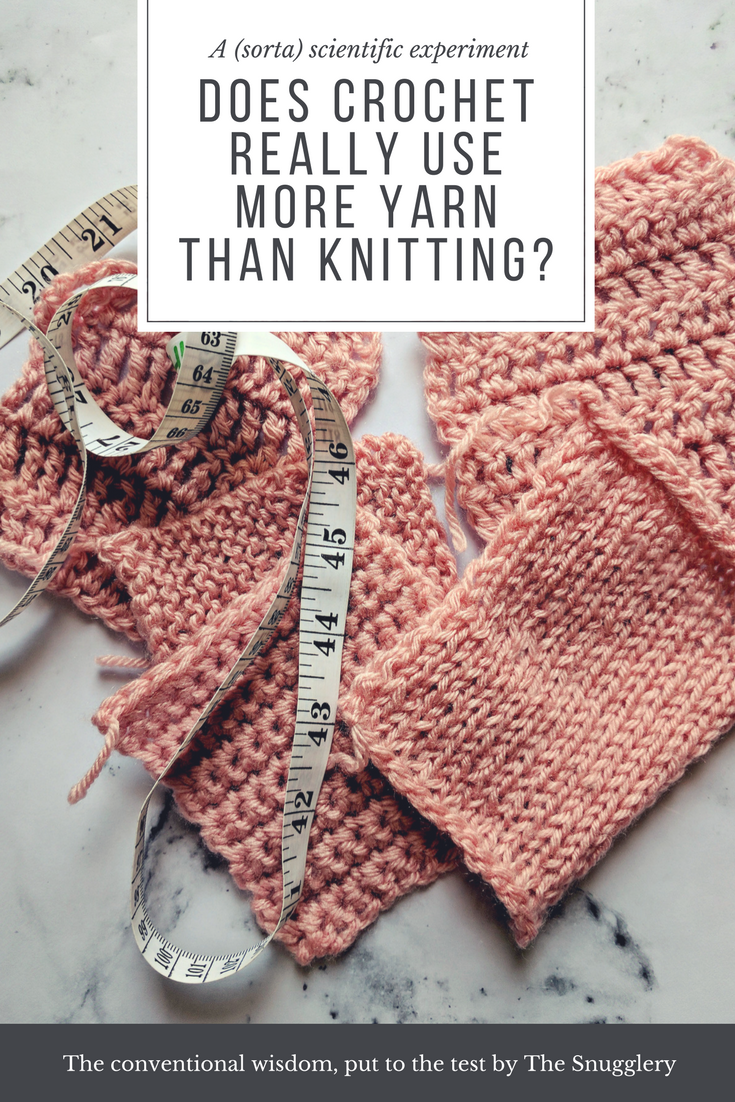 a (sorta) scientific experiment: Does Crochet Really Use More Yarn ...