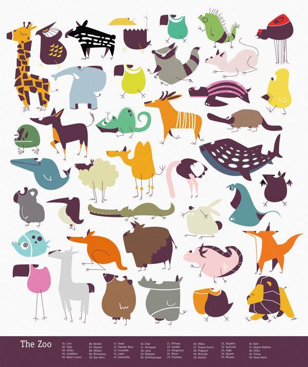 Zoo Jacques Rouxel on Behance | Vector Illustration | Pinterest ...