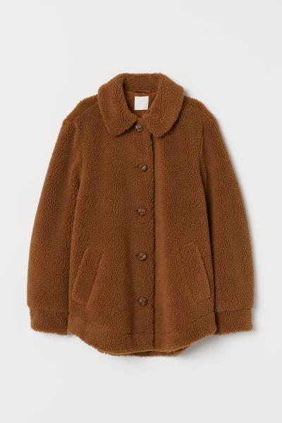 Fleecejacke Mit Kragen Altrosa Ladies H M De Faux Shearling Jacket Aesthetic Clothes Fashion
