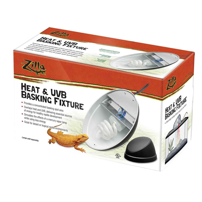 Zilla Heat & UVB Basking Fixture Reptile supplies