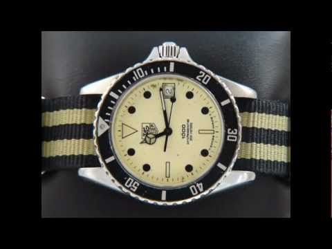 TAG Heuer 1000 Full size Man Yellow Lumi dial on a NATO ...