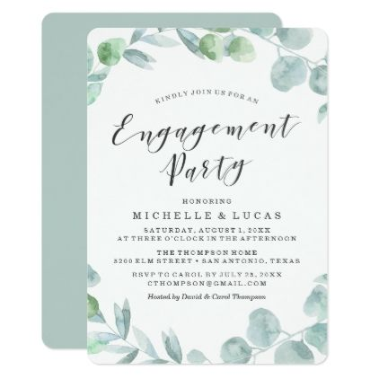 Delicate Wreath Engagement Party Invitation Engagement party - engagement party invites templates