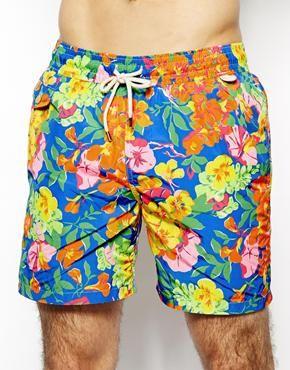 9ea601266cdac Polo Ralph Lauren Floral Blue Swim Shorts | MENS SWIMWEAR | Latest ...