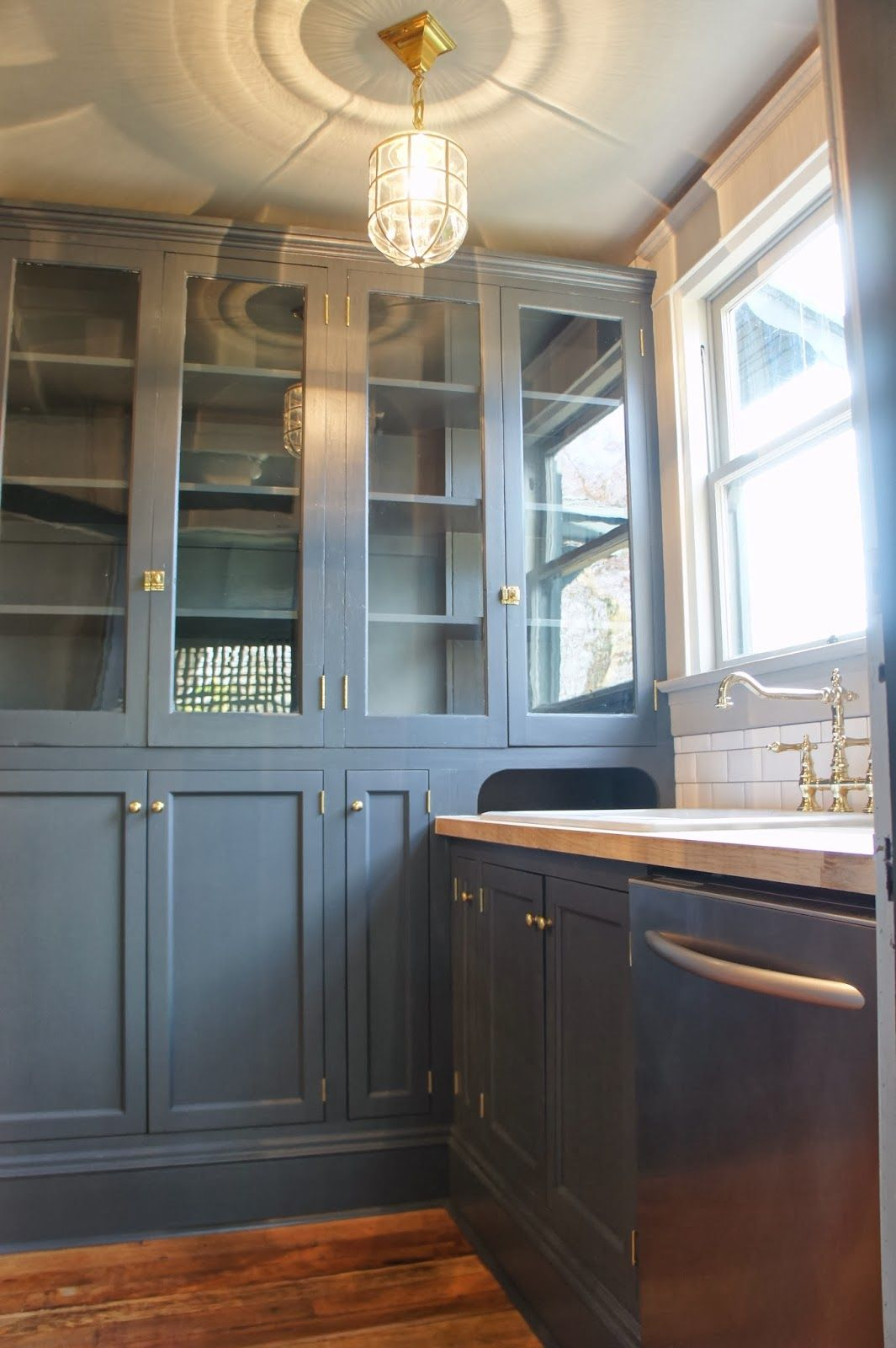 MAKE KING | Stained kitchen cabinets, Built in pantry ...