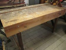 Chunky Timber Work bench Kitchen Island Dining Table Farmhouse 182.5cm Long