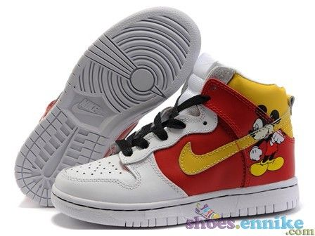 brand new 1a8aa a01a3 online nike dunk high shoes men mickey mouse