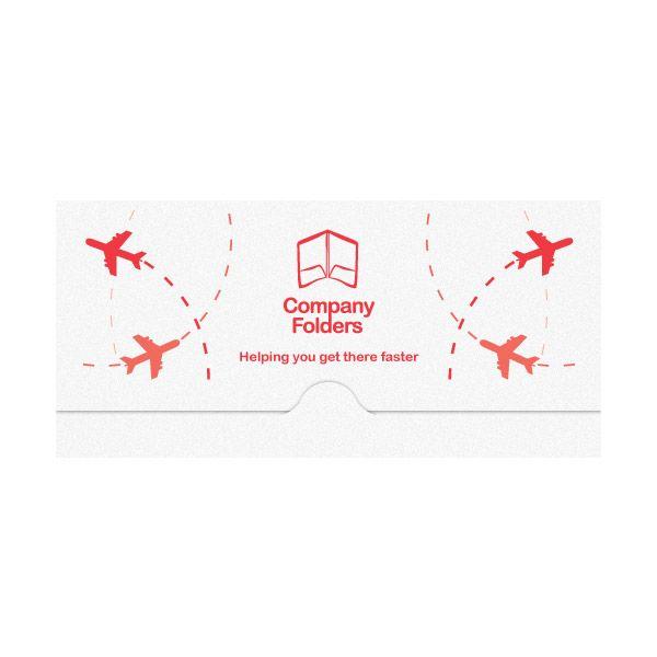 Free Design Template Airplane Travel Document Folder