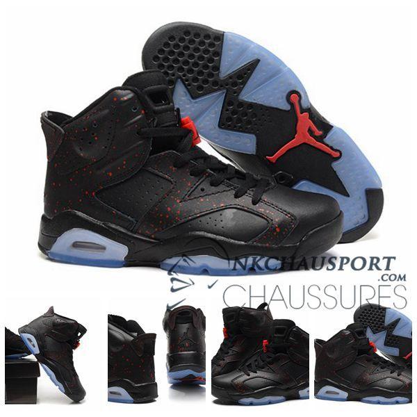 promo code 3c88c dd129 Nike Air Jordan 6   Classique Chaussure De Basket Homme Noir-11