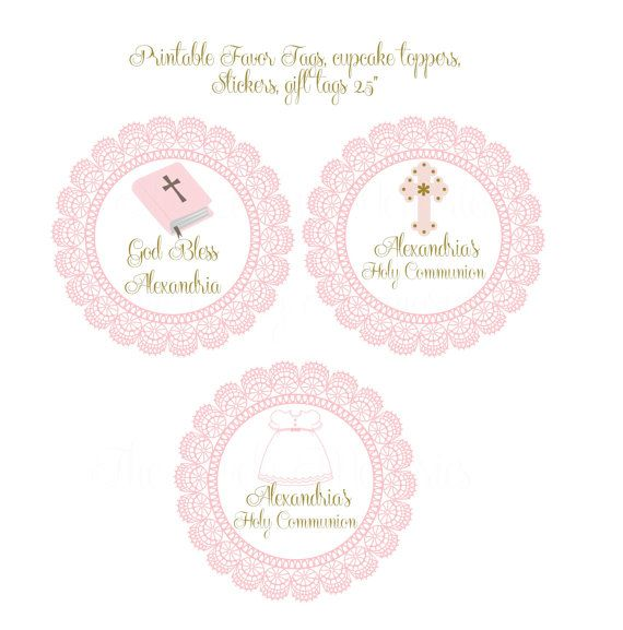 Personalized Baby Girl Baptism   Christening por TheLovelyMemories - free baby shower label templates