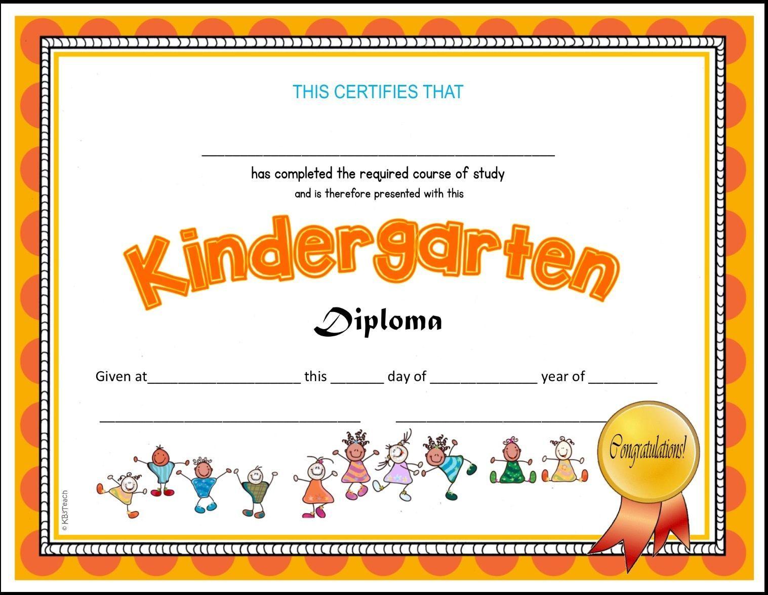 Kindergarten Amp Pre K Diplomas Editable