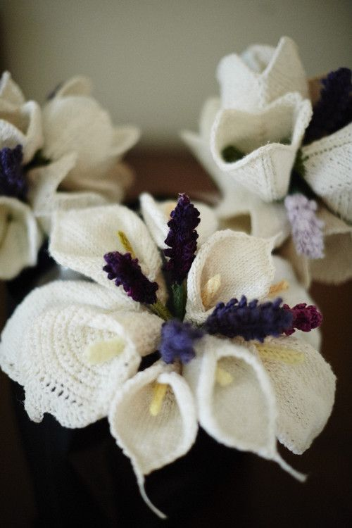 Knitted wedding bouquets by Kniterly: \