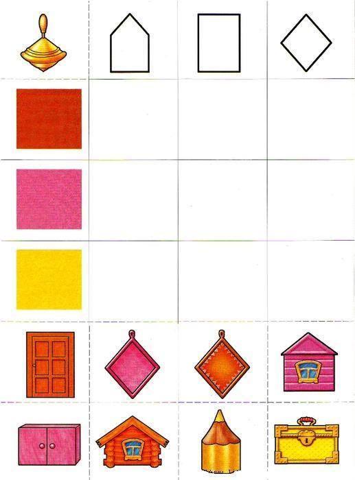 Formen und Farben zuordnen. | colour game | Pinterest | Color games ...