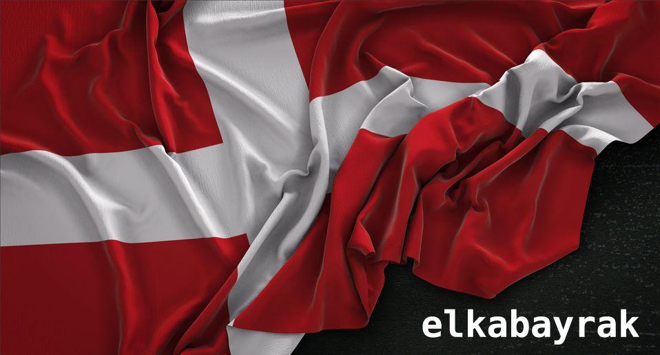 Danimarka Bayragi Bayrak Flamalar Danimarka