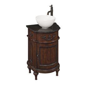 Vinton Sienna Vessel Single Sink Bathroom Vanity With Granite Top Faucet Included Common Single Sink Bathroom Vanity Lowes Bathroom Vanity Bathroom Vanity