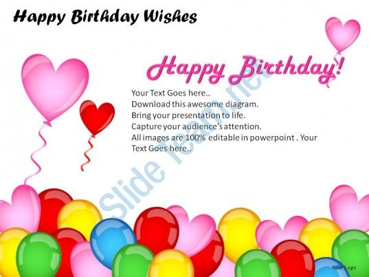 Happy Birthday Wishes Powerpoint Presentation Slides Slide01