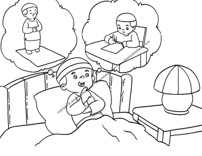 Gambar Anak Sedang Melamun Dan Berpikir 5 Anak Gambar Buku Anak