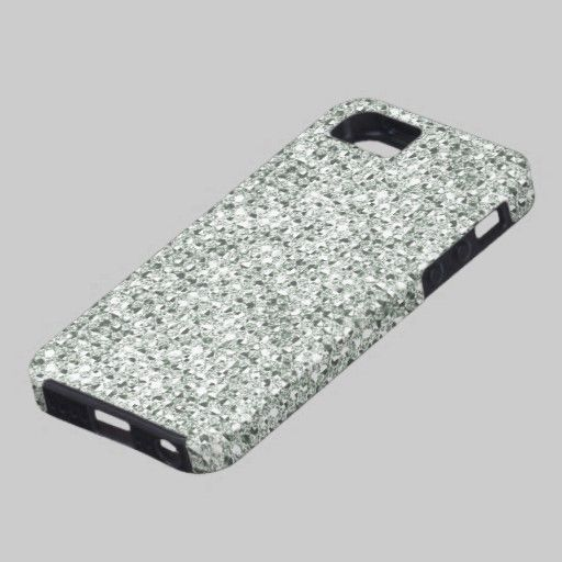 SOLD: Silver Faux (2D simulated) Jewels iPhone 5 Case by Graphic Allusions. #iphones #iphone5 #gifts $50.60