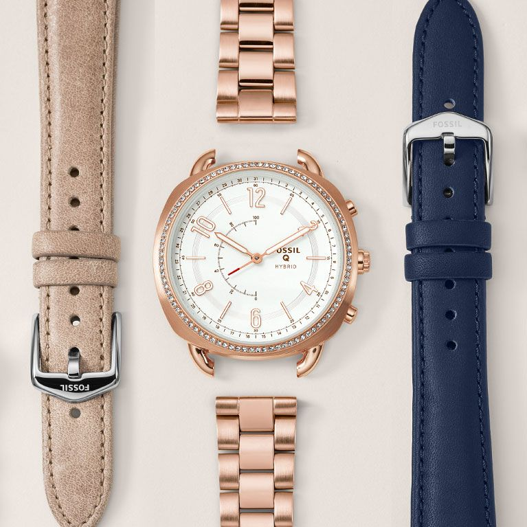 Hybrid Smartwatch Grant Navy Leather Navy leather