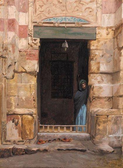 Jean-Léon Gérôme - Porte d'une mosquée