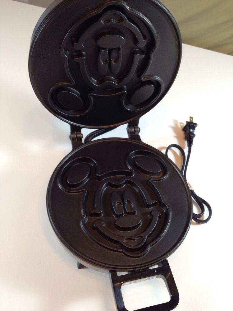 Mickey Mouse Waffler Waffle Iron, Sandwich Maker Walt Disney Co Vitantonio Rare #ebay FREE shipping
