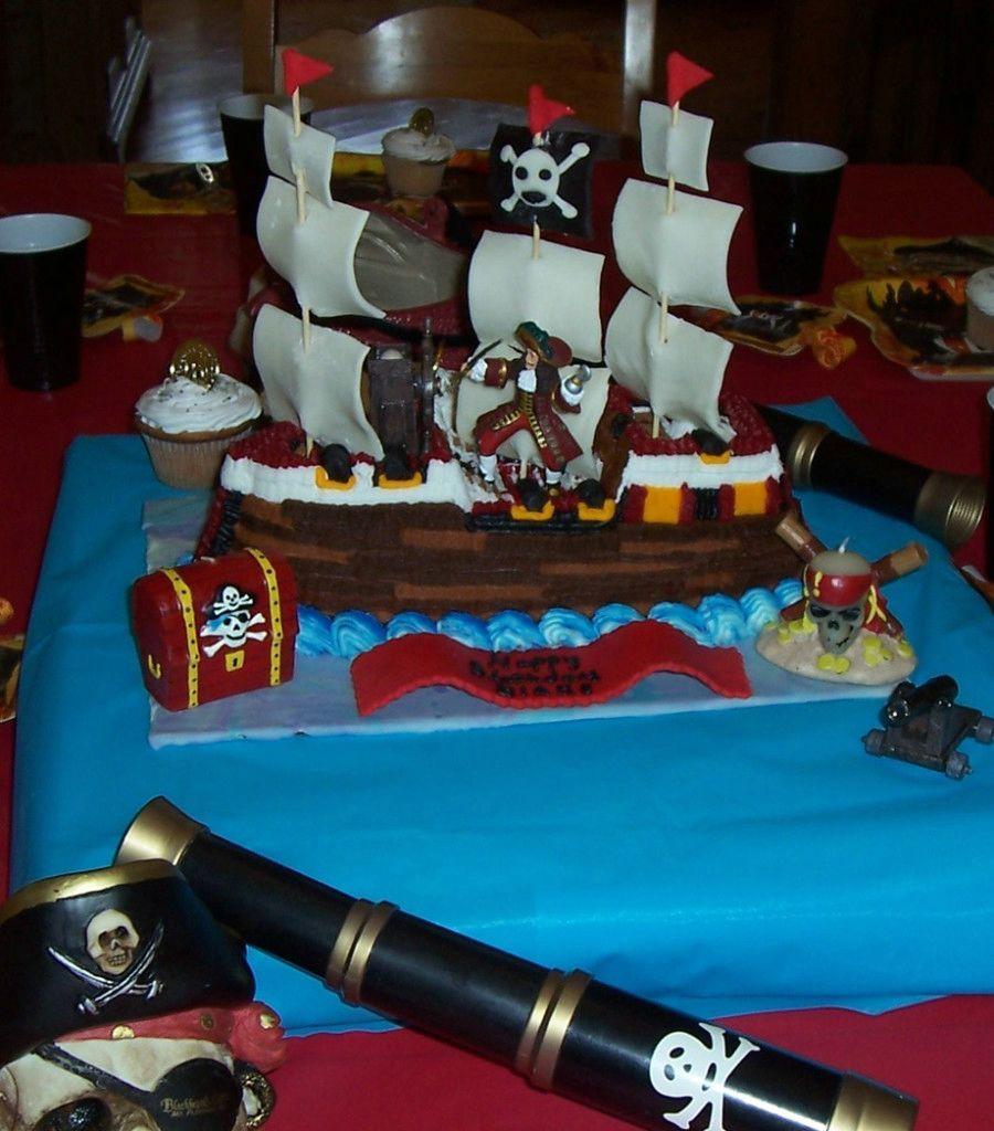 Pirate Ship Birthday Cake For Boys Boys Birthday Cakes Pinterest