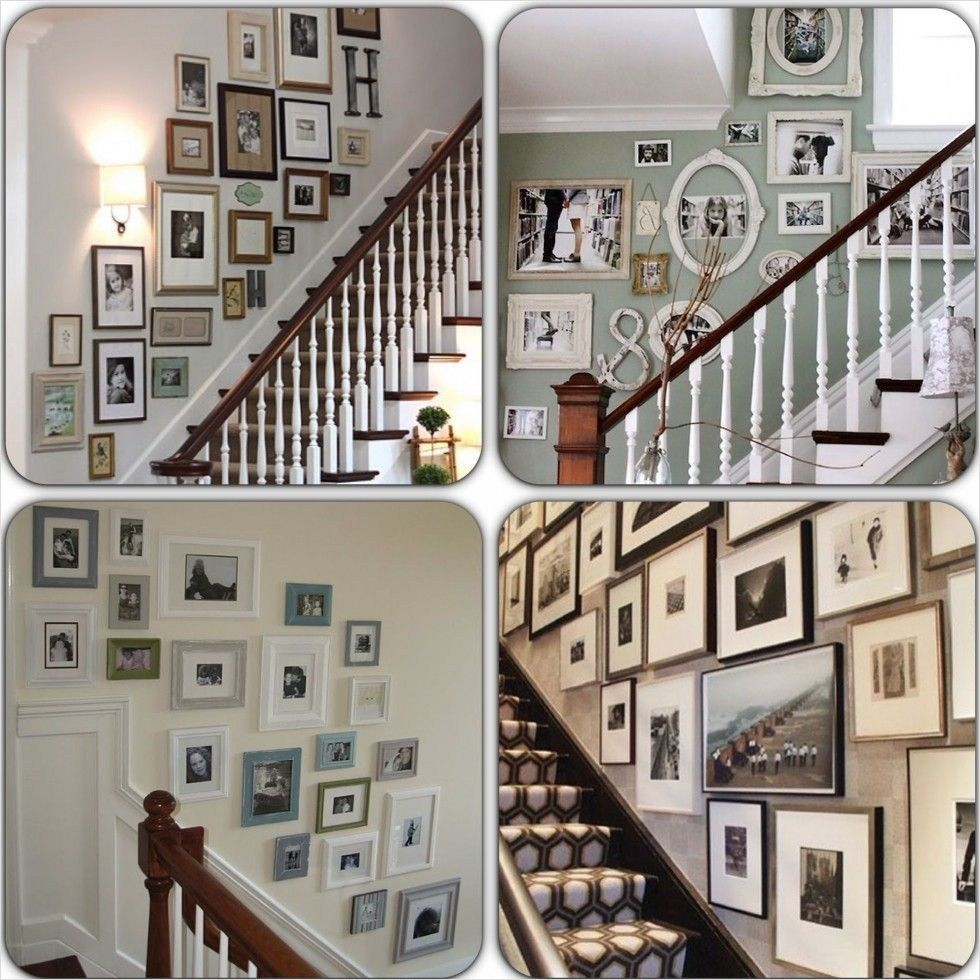 30+ Unique Staircase Wall Decorating Ideas