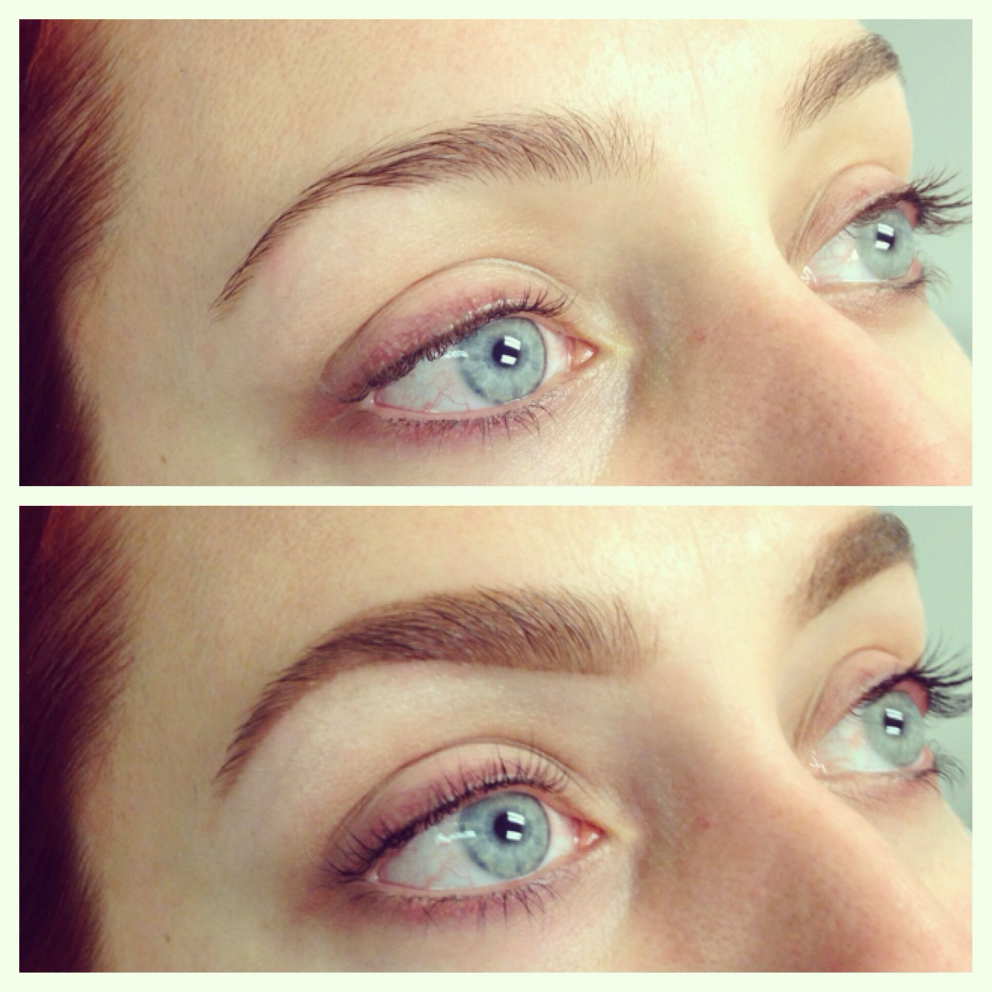 Before And After Brow Shaping And Lash Tint By Brows By Shaila