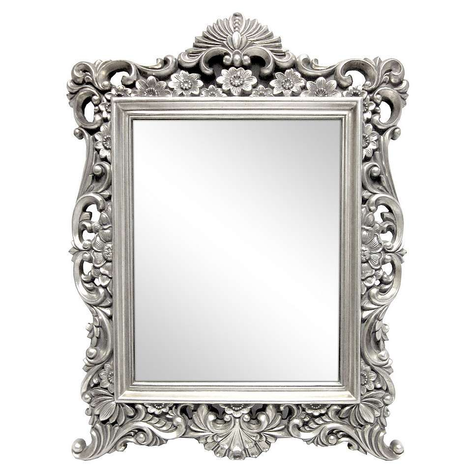 Dunelm Bathroom Accessories Silver Ornate Framed Mirror Dunelm Furniture Decor