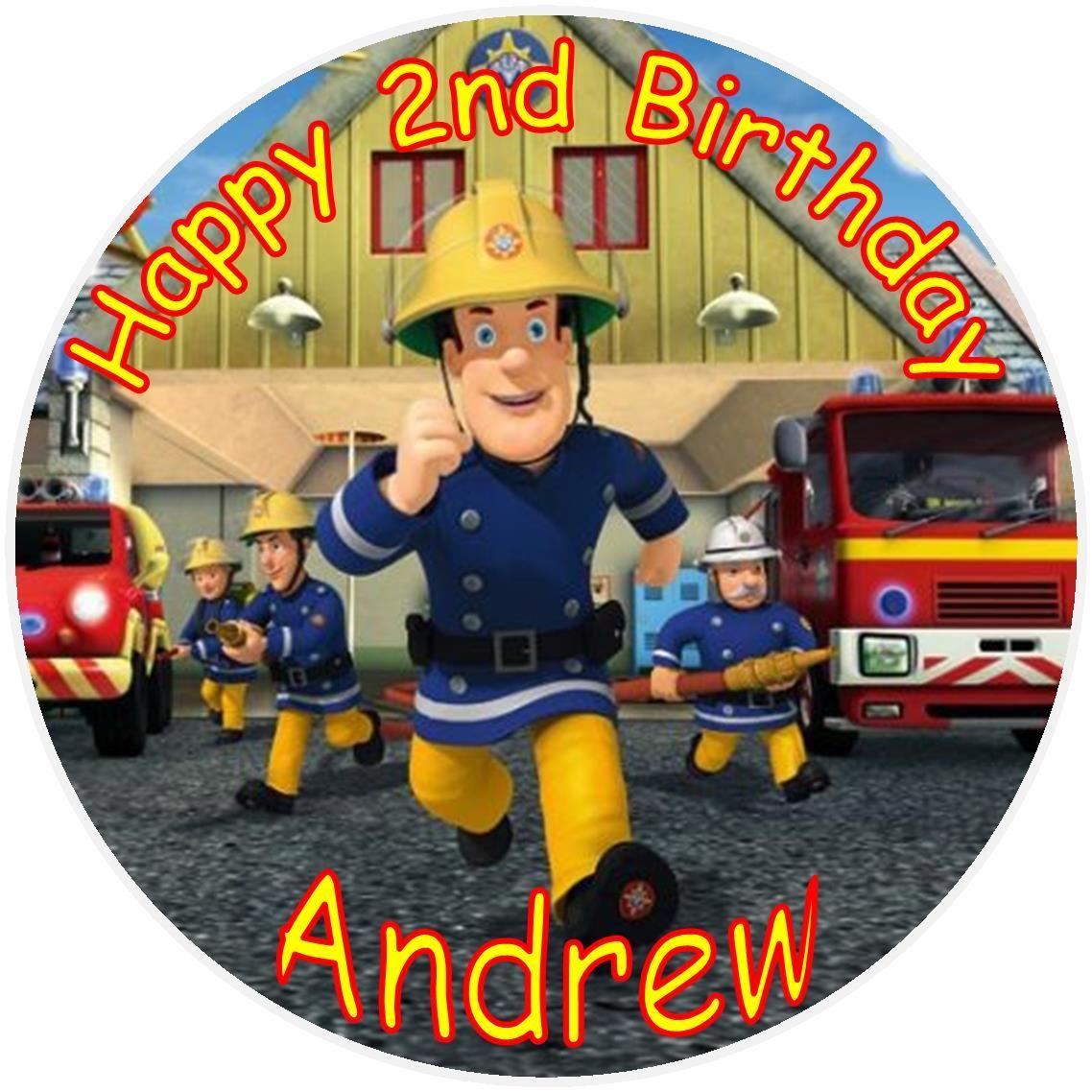Firefighter Cupcake Decorations Fireman Sam Cake Topper Fireman Sam Cake Topper 249 Cake
