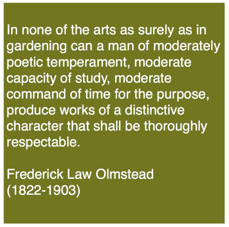 The Garden Design Blog   Frederick Law Olmstead On The Art Of Gardening
