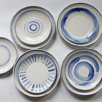 Frances Palmer Pottery Grecian Dessert Plate Hand Made White Earthenware  sc 1 st  Pinterest & Frances Palmer Pottery: Grecian Dessert Plate Hand Made White ...