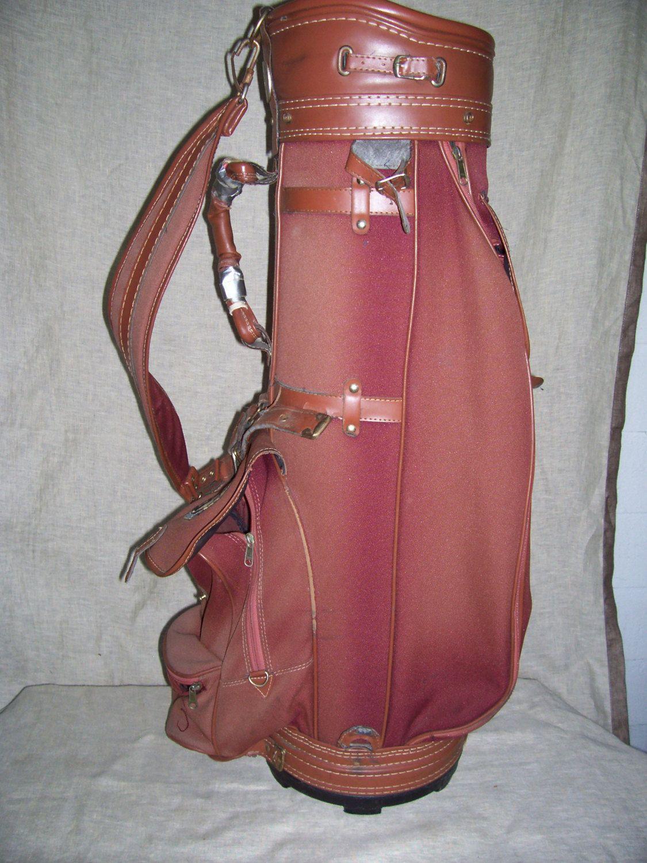 Vintage Used Golf Bag Macgregor Brown Fabric By Liz404 On Etsy