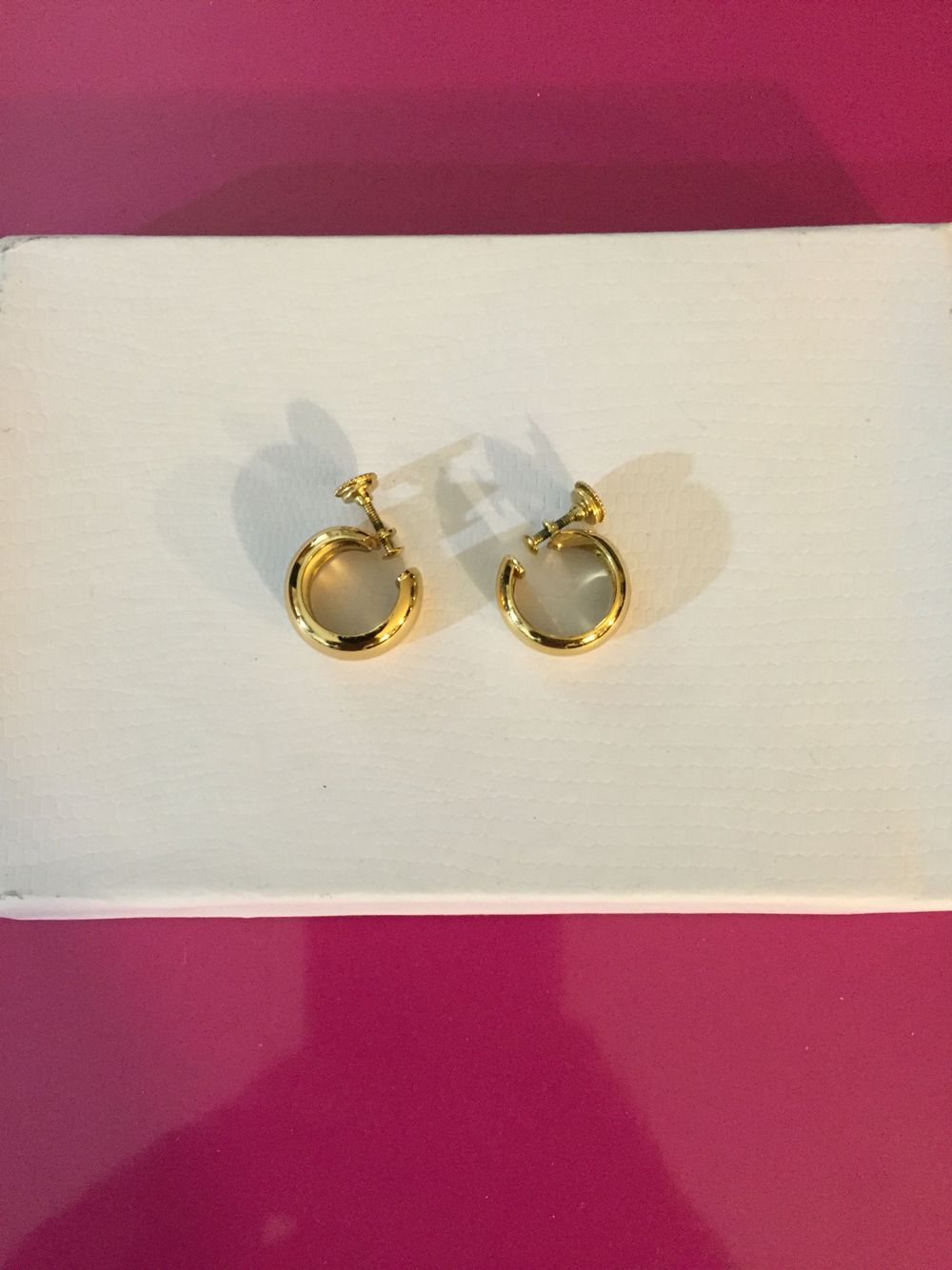 Golden Tone Medium Clip On Earrings By Monet Vintage Costume Jewelry Costumes