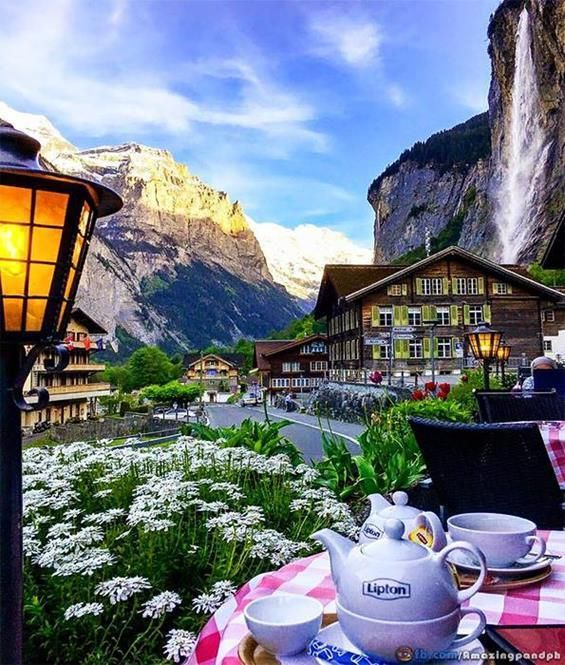 Pull Up A Chair In Lauterbrunnen Switzerland One Of My Favourite Places To Visit