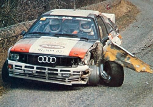 Audi Quattro rally car gr.B - Michelle Mouton - EC Le Moulinon-Antraigues - Monte-Carlo Rally 1982